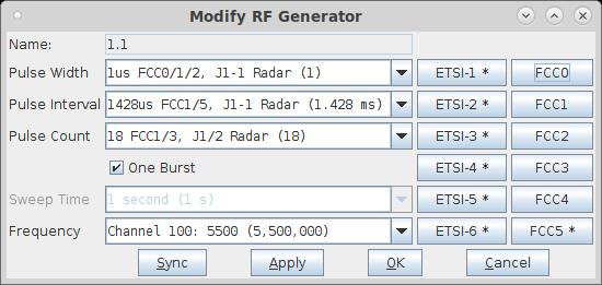 CT712 LANforge RF Noise Generator and RADAR Simulator