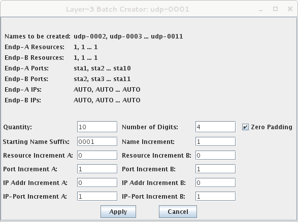 LANforge-GUI Layer-3 Batch Creator